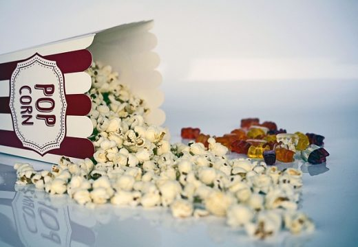 popcorn at a literature movies