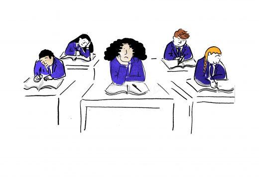 illustration-schoolkids-at-desks
