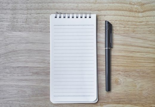 how to improve your memory: notebook and pen