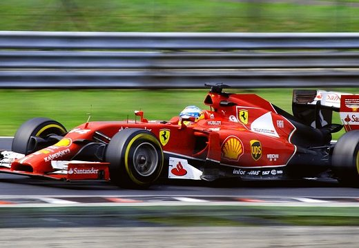 ferrari at grand prix