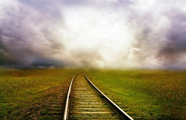 Railroad track on interrailing trip