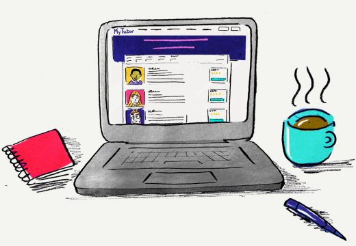 illustration-laptop-with-mytutor-site-and-mug-of-tea