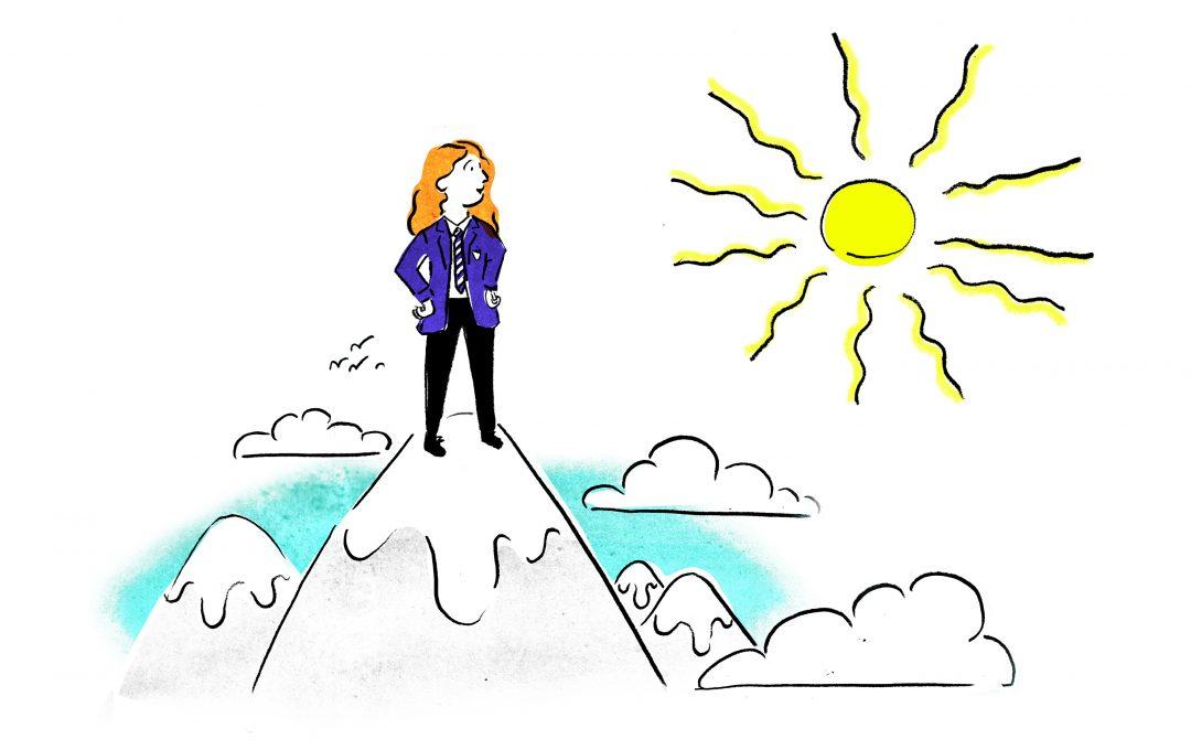 illustration-pupil-standing-on-mountain-near-sun